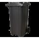 Пластмасова кофа на колела, 240 литра