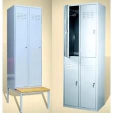 Метални гардероби и пейки за съблекални