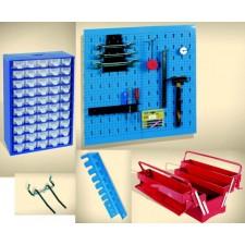 Кутии, стени и държачи за инструменти